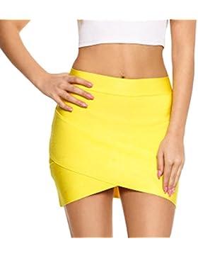 HLBandage Women Irregular Mini Bandage Skirt
