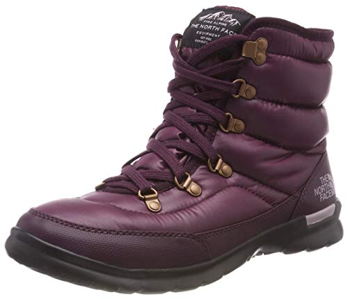 THE NORTH FACE Damen Thermoball Lace Ii Schneestiefel, Braun (Shiny Fig/Vintage White 5ug), 38 EU (Damen Stiefel The North Face)