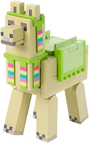 Minecraft Mattel - FVG24 Spuckendes Lama mit Karotte und Kopfschmuck - Actionfigur