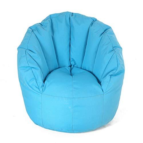 Classico poltrona sacco adulti sedie a sacco sedia for bambini sedia semplice fiore (color : blue, size : 90cmx80cm)