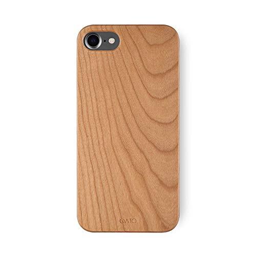 iATO Schutzhülle für iPhone 7/8, echtes Kirschholz, einzigartig, stilvoll und klassisch, aus Holz -