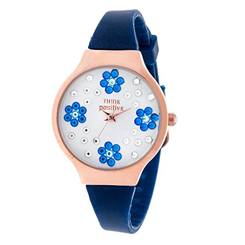 ladies-think-positiver-modell-se-w114a-blumen-kleine-rose-bugel-silikon-farbe-blau