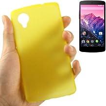 Carcasa ultrafina 0,3mm para teléfono Google Nexus 5Amarillo Transparente