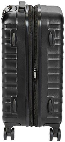 AmazonBasics – Hochwertiger Hartschalen-Trolley mit Schwenkrollen und eingebautem TSA-Schloss – 55 cm, Handgepäck, Schwarz, Genehmigt als Handgepäck auf vielen Airlines - 5