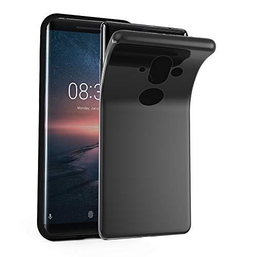 Cadorabo Hülle für Nokia 8 Sirocco/Nokia 9 2017 - Hülle in SCHWARZ – Handyhülle aus TPU Silikon im Ultra Slim 'AIR' Design - Silikonhülle Schutzhülle Soft Back Cover Case Bumper