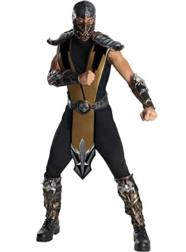 Scorpion Kostüm - Generique - Mortal Kombat-Superhelden-Kostüm schwarz-Silber M / L