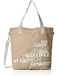 Adelheid Glückspilz m. Spruch Einkaufstasche, Bolso Mujer, 44x39x10 cm (B x H x T)