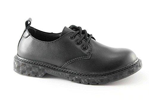 CAFè NOIR FH904 nero scarpe donna derby lacci liscia 40