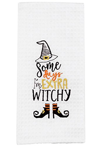 Mud Pie Halloween Dish Towel - Choose Style (Witchinhouse)