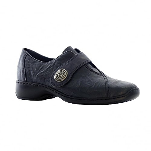 Rieker L3870-14 - intelligente completo-donna scarpa in Blu Royal Nero (Blu)