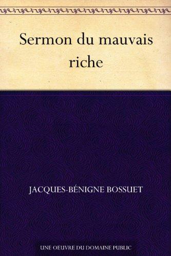 Couverture du livre Sermon du mauvais riche