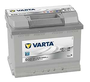 Varta Silver Dynamic D39 Batterie Voitures, 12 V 63Ah 610 Amps (En)