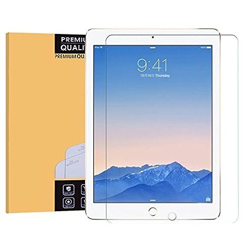 Nouvel iPad 9.7 2017/iPad Air/iPad Air 2/iPad Pro 9.7 Verre Trempé,EasyULT iPad Air/Air 2/iPad Pro 9.7 Vitre Protection écran Protecteur d'écran Glass Tempered Screen Protector pour iPad 9.7 2017