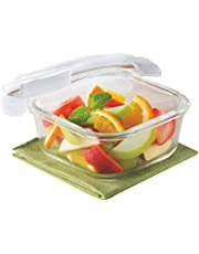Borosil Klip & Store Square Containers with Lid