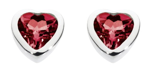 dew-womens-sterling-silver-and-garnet-heart-stud-earrings