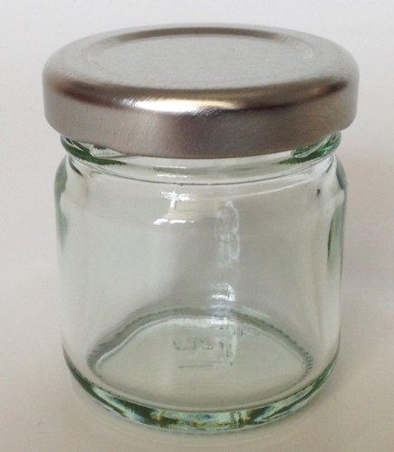 Nutley's Petits Pots à Confiture en Verre avec Couvercle argenté 42ML (Lot DE 30)
