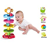 Jiada Swirl Ball Ramp Educational Toy Puzzle Rolling Ball | ABS Material Non Toxic