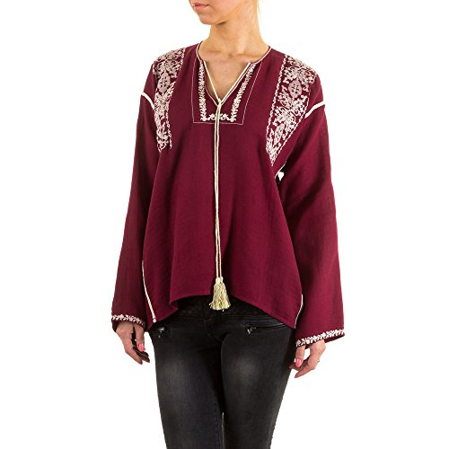 Damen Bluse, JCL HIPPIE, KL-63011 Rot