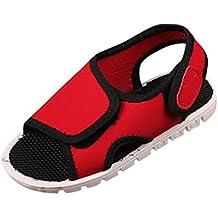 4f833f29ef4 OHQ Enfants GarçOns Et Filles Velcro Sandales De Sport Chaussures Plage  Plastique Scratch Ete Kickers Vert