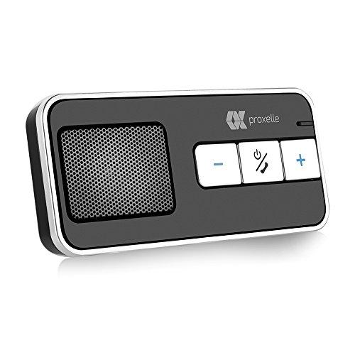 Proxelle Car Kit Vivavoce Bluetooth Mani Libere Accessorio, Supporto GPS, musica e telefonata con microfono incorporato e caricabatteria per auto