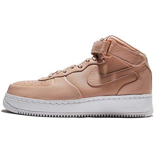 Nike Herren NikeLab Air Force 1 Mid Basketballschuhe, Braun/Weiß (Vachetta Vchtt Tan-White), 42 1/2 EU (Braun Air Force 1)