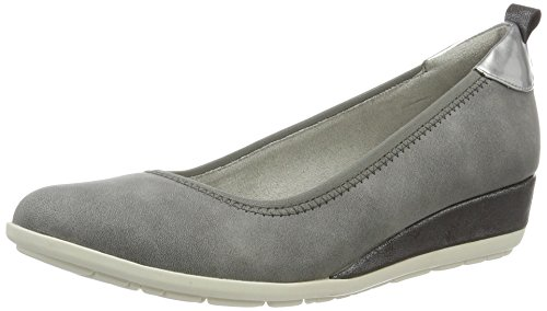 s.Oliver Damen 22302 Pumps, Grau (Graphite 206), 42 EU