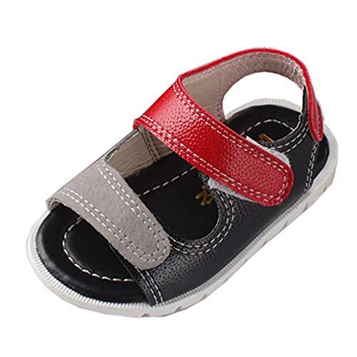 Alwayswin Neugeborenes Baby Mädchen Jungen Kleinkindschuhe Sandalen Erste Wanderer Weiche Sohle Schuhe Korean Schuhe Mode Open Toe Klettverschluss Sandalen Sommer Flache Babyschuhe