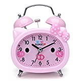 Best Alarm Clocks For Kids - Plumeet Twin Bell Alarm Clock for Kids, Silent Review