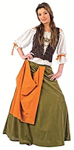 Limit Sport - Disfraz de tabernera medieval Agnes, para adultos, talla XL (MA061)