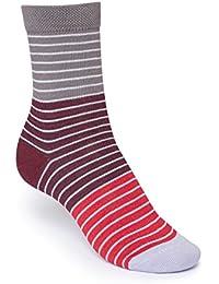 ThokkThokk Striped High-Top Socken Red Bio