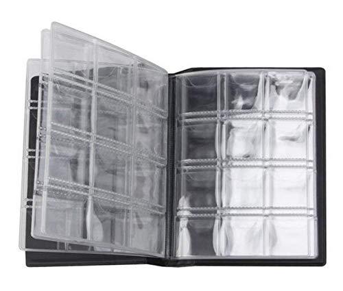 1Pcs Black 10 Pages 120 Pockets Coin Collection Album