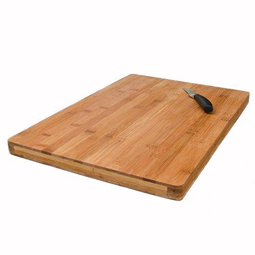 Eyepower tagliere in bambù 49x34cm | 3cm di spessore | grande tagliere da cucina in legno