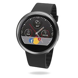 MyKronoz ZeRound2 Smartwatch with Color Touchscreen/Built-in MicrophOne/Speaker - Black/Black