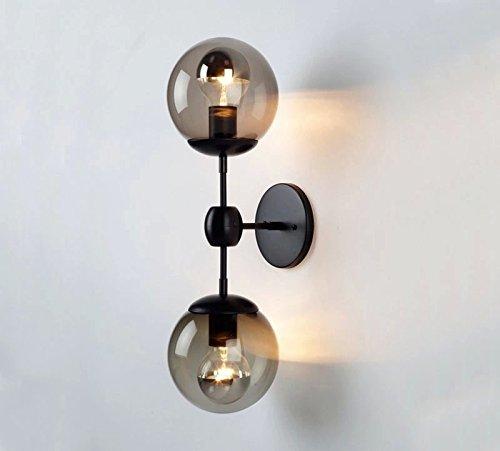 5151BuyWorld Nordic American Retro Study Wandleuchte Das Wohnzimmer Decke hängendes Bett Loft-Schwarz-Eisen Modern Licht [Schwarz] -