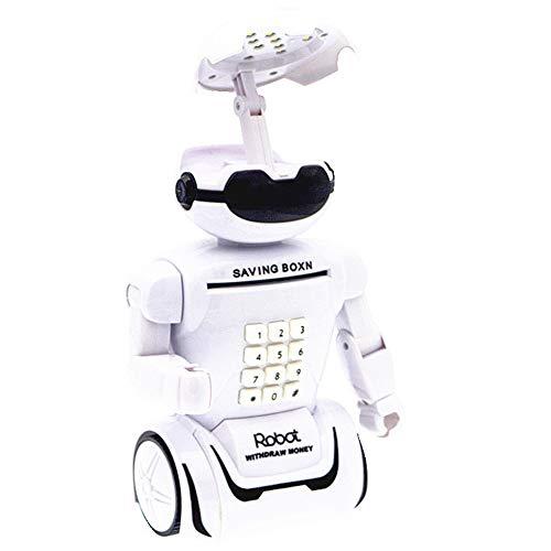 Coin Box Piggy Bank For Kids Robot Electrónico Banco De Dinero Mini ATM con Lámpara De Mesa Plegable Gran Regalo para Niños PBK-702