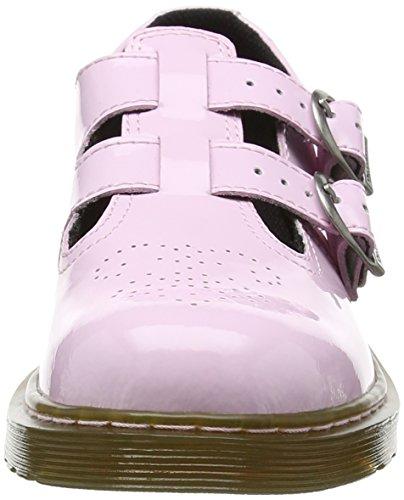 Dr. Martens 8065 J, Sandales mixte enfant Rose (Baby Pink Patent Lamper)