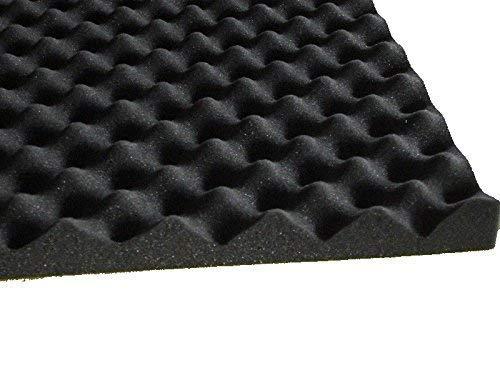Mail2mail Noppenschaumstoff Zuschnitt (ca.50 x 50) Akustik Schaumstoff Akustikschaumstoff Dämmung Platten (ca. 50x50x 3 cm, (Anthrazit Schwarz)