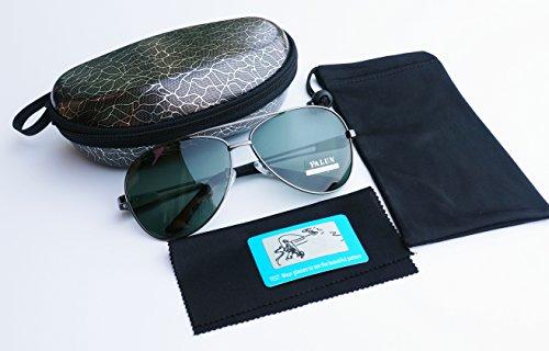 Dunkelblau UV400Aviator Sunglasses for Men Women with Sun Glasses Case