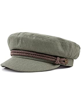 Brixton Unisex Headwear Fiddler Cap, Unisex, Fiddler Cap, Light Olive/Brown, Medium