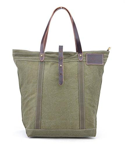 Gootium , Damen Henkeltasche, Beige (Braun) - 50924CF grün
