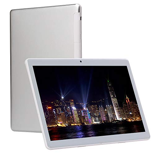 Festplatte, Gps (10 Zoll Android entriegelt 4G-Handy Tablet 4 GB RAM 64 GB ROM bis zu 64 GB Speicher, Octa-Core Dual-SIM-Kartensteckplätze, Dual-Kamera 5 + 8MP WiFi-GPS-Spiel Google Play HD IPS-Bildschirm (Silber))