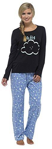 Ladies Tom Franks Checked Print Winter Long Pyjama pajama Sleepwear Test