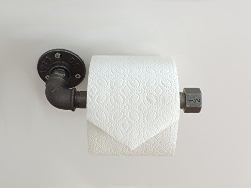Toilettenpapierhalter Schwarz Anthrazit Metall Industrie Design  Klopapierhalter