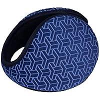 SUPRERHOUNG Orejeras de Orejas Gruesas de rombo Orejeras de Orejas de Felpa cálidas Orejeras de Invierno para Hombres de Exterior (Azul) (Color : Azul, tamaño : 13cm)