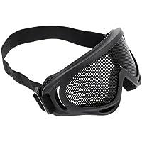 GSG 6111820 - Occhiali protettivi per sport all'aperto, con bandana, colore: Grigio