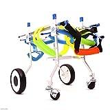 XJLG + Scooter de Chien Les Outils pour fauteuils roulants pour Animaux de Compagnie aident Les Chiens handicapés assistés par Leurs Jambes arrière Taille de Voiture de Sport réglable