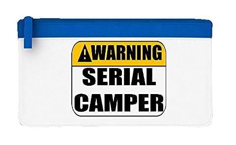 avertissement Serial Camper PVP Jeu Multijoueur en ligne Statement Trousse plate taille unique bleu