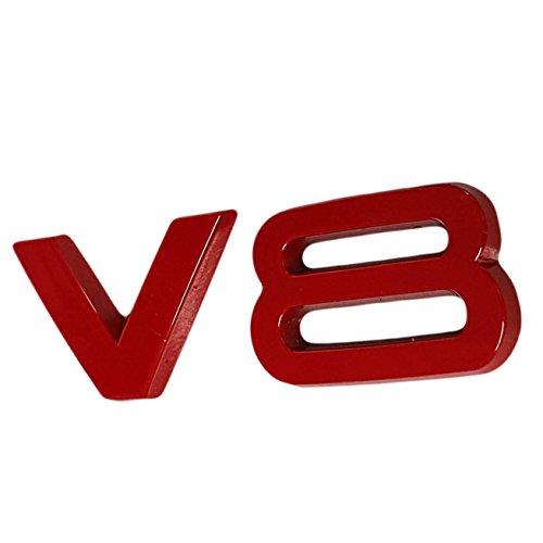 Ctronic ala parafango anteriore posteriore rosso lucido stivali di logo emblema adesivo adesivo V8HB5R3