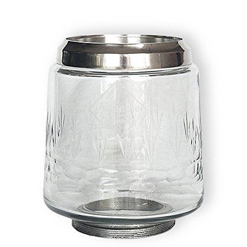 Ersatz Schüssel-Glas Globe für große Absinthe Brunnen mit vier Metall Wasserhähne -