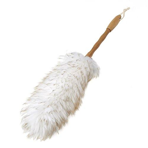 Addis Super Soft natürlicher Wolle Duster mit Bambus Griff, natürliches Finish, weiß & Holz -